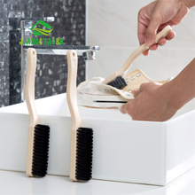 JiangChaoBo Long Handle Imitation Wood Shoes Cleaning Brush Soft Wool Home Laundry Clothes Board