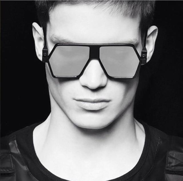 b90315b03d892 JackJad 2018 Homens Da Moda Quadrado Estilo Escudo BL0001 Óculos de Sol  Frescos Tendência de Design