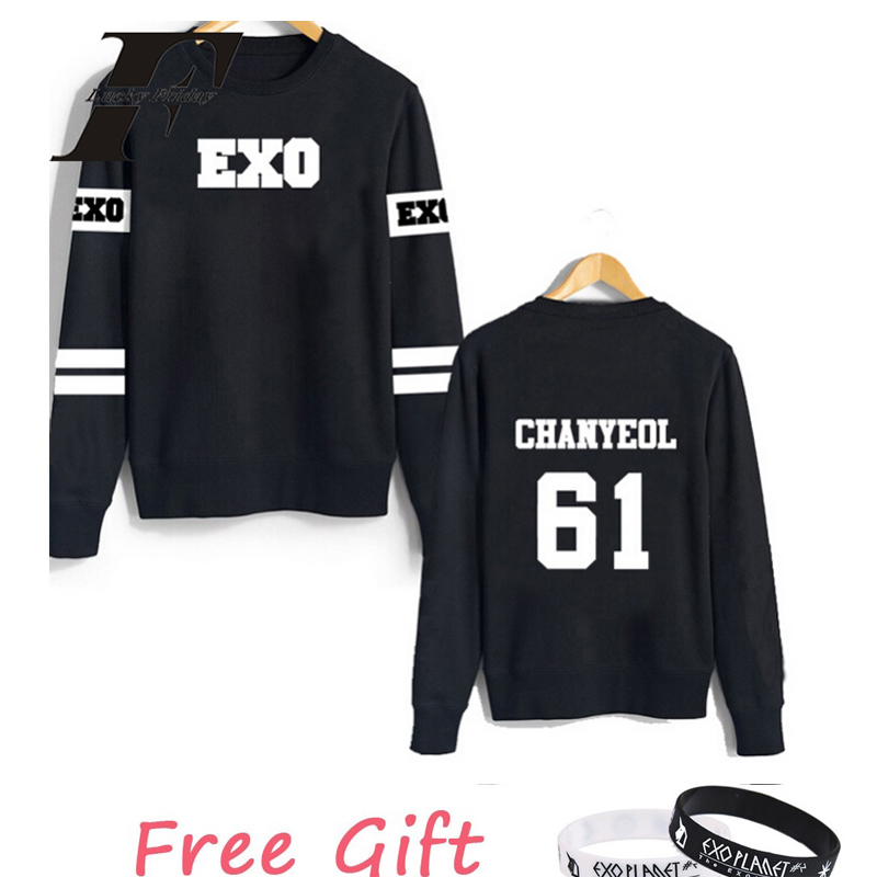 2017 exo kpop kar sehun xiumin baekhyun terra sticker oversized hoodie sweatshirts women men moletom tracksuit survetement