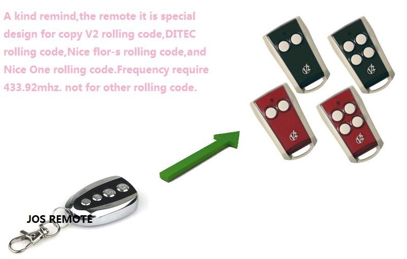 After market V2 garage door remote ,model V2 TXC ,phoenix2,phoenix4,TSC4,TRC,V2 handy v2