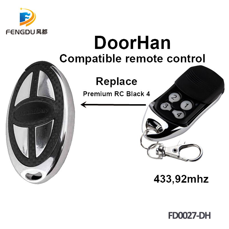 10PCS Doorhan Premium RC Black 4 remote control electric gate 433 92Mhz Doorhan 433mhz remote control