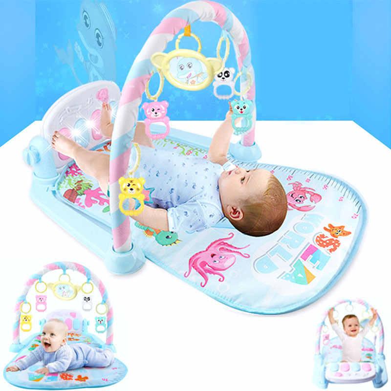 Bebé Rocker Piano alfombra musical recién nacido Fitness, montura de culturismo, mecedora de Pedal, juego de actividades, juguete educativo