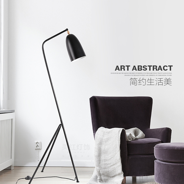 Charming Black Led Floor Lamp Modern Wrought Iron Floor Lamps Home E27 AC 90 260V