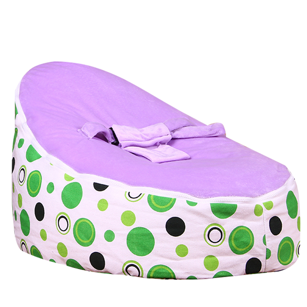 Lazybaby Medium Green Circle Baby Bean Bag Chair Kids Bed For Sleeping  Folding Newborn Baby Seat Sofa Zac With The Filler In Baby Cribs From  Mother U0026 Kids ...