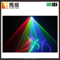 Hot sales 3 Lens Red Green Blue RGB Scanner Laser Light sector& Bar Laser DJ Party Show Club Holiday Home Bar Stage Lighting