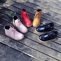 Botas de Meninos e Meninas das Crianças Sapatos de couro genuíno Crianças botas Martin Botas Botas de Cavaleiro Ocidental 16.5-22 cm Livre grátis