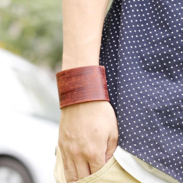 Rocznika prawdziwej skóry Hotsale czysty kolor Punk brązowy Charm bransoletki dla kobiet mężczyzn New Arrival bransoletki