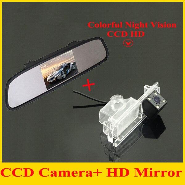 4.3car monitor mirror TFT LCD 800*480 + car rear view backup camera for Kia K2 Rio Hatchback Kia Ceed 2013 car parking camera