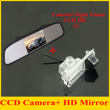 4.3″car monitor mirror TFT LCD 800*480 + car rear view backup camera for Kia K2 Rio Hatchback Kia Ceed 2013 car parking camera