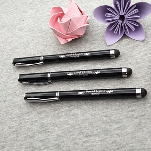 Image 2 - NEW wedding gift stylus pen custom logo TEXT free for your company new year party multi function pen 30PC screen touch metal pen
