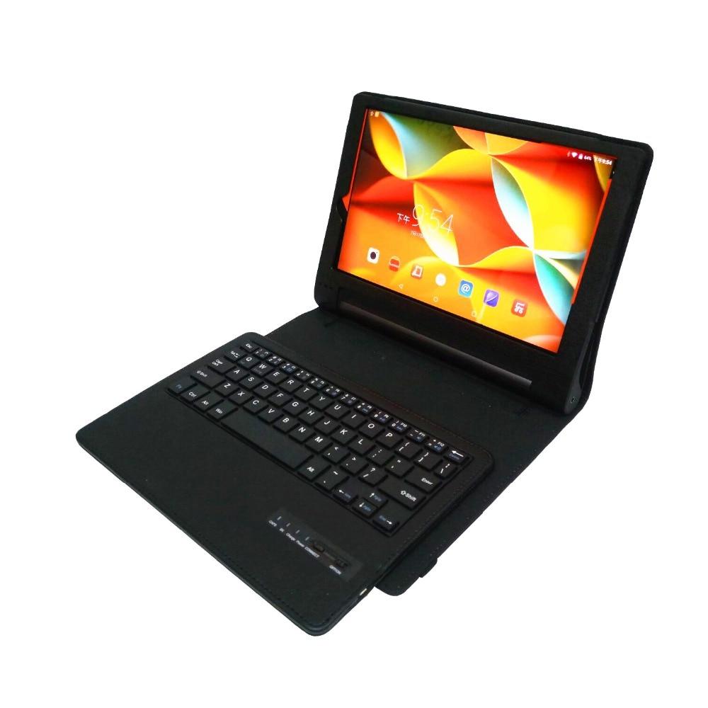 Intelligent Sans Fil Bluetooth Clavier Litchi PU Couverture En Cuir Pour Lenovo YOGA Tab 3 10.1 YT3-X50M YT3-X50F Cas + Stylet + Film.