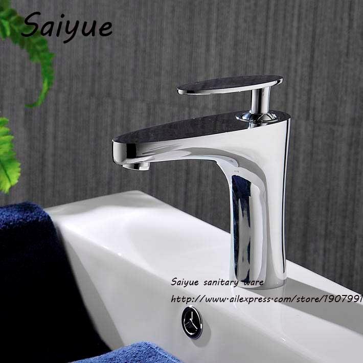 все цены на Alto Grado Solid Brass Basin mixer Bathrom Faucet Single Hole Water Tap For Bathroom Torneira Para Banheiro