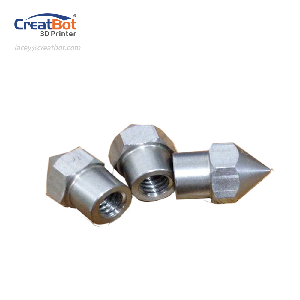 ( 5 pcs/ lot) 0.4mm Stainless Nozzle Original CreatBot Printer Parts length Accessories Large extruder head