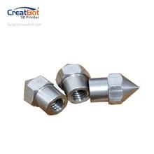 (5 unids/lote) 0.4mm Inoxidable Boquilla Original Impresora CreatBot longitud Piezas Accesorios Gran cabeza extrusora