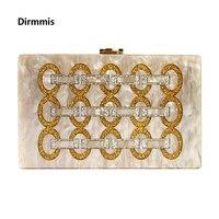 Marka moda tasarımcısı Kadın yeni cüzdan Akrilik kolu akşam çanta geometrik dikiş omuz çantası lüks Kadın parti Debriyaj