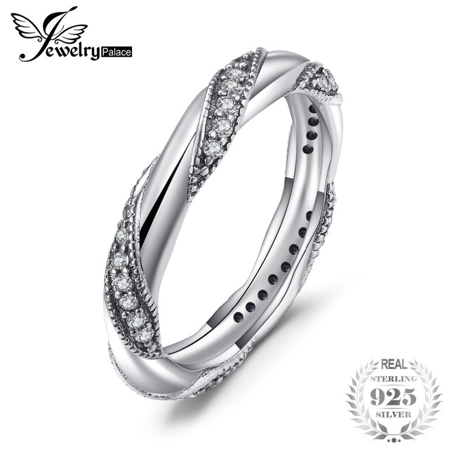 JewelryPalace 925 Sterling Silver Eternity Love Statement Stocking Ring Gifts Fo