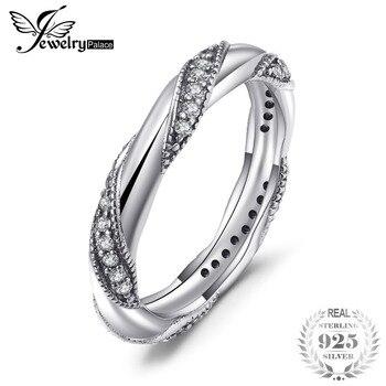 0081ae44fa7d JewelryPalace 925 plata esterlina eternidad amor declaración de anillo de  aniversario de mujeres joyería de moda nueva llegada