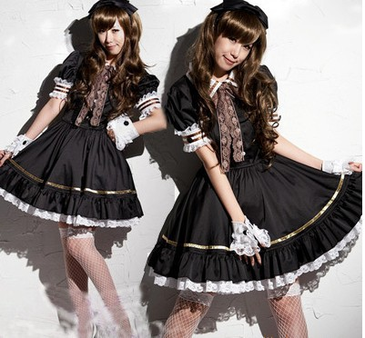 New Sexy Costumes  The New Maid Outfit Anime Cosplay Party Dress COSPlay game uniforms Nightclub dress up clothes