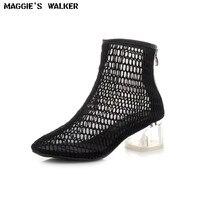 ماجي ووكر النساء أزياء شبكة الصيف الأحذية الصيف سستة عارضة الأحذية المدببة تو تنفس أحذية حجم 35 ~ 39