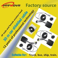 Source factory HYF aviation head 4pin male to female extension cord Audio and video power shielded cable vehicle MDVR aviation h