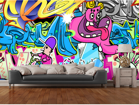 Buy custom 3d art wallpaper urban art for Art mural wallpaper