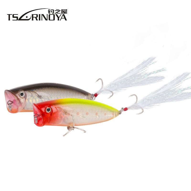 Trulinoya DW14 Popper Fishing Lures 80mm 20g TopWater Floating Hard Baits VMC Hook Iscas Artificiais Para Pesca Atacado