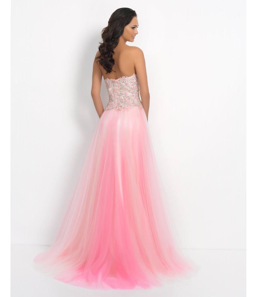 La perlas y sorprendente elegante velo de tul vestido de noche en ...