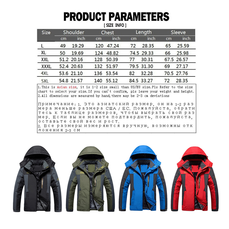 HTB1XpnNe8WD3KVjSZFsq6AqkpXaA LBL Winter Men Jackets Thick Mens Hiking Jacket Casual Outwear Warm Hooded Coat Man Windproof Overcoat Homme Outdoor Fashion Top