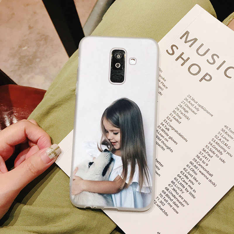 لينة سيليكون جراب هاتف الطفل أمي فتاة طباعة لسامسونج غالاكسي A70 A50 A40 A9 A8 A7 A6 A5 A3 زائد 2018 2017 2016 غطاء