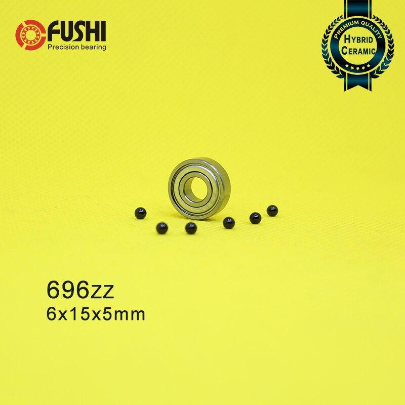 696 Hybride Keramische Lagers 6*15*5mm ABEC-1 (1 PC) industrie Motor Spindel 696HC Hybriden Si3N4 Kogellagers 3NC 696ZZ