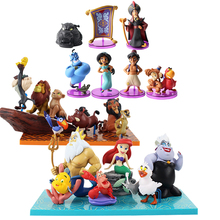 Princess Aladdin Jasmine figure toy Evil Monkey Tiger and His Lamp Mermaid The King of Lion Simba PVC Action Figure Model Toy