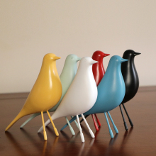 Modern Birds craft Model Figurines & Miniatures resin Decoration Crafts white birdie Furnishing Articles For Home Decor