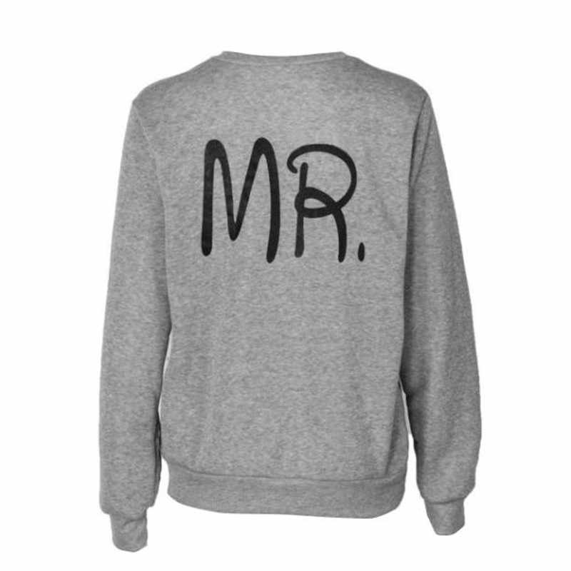 4537dd4682 ... couple sweatshirt Spring Autumn Hoodies Women Men Letter Print MR and  MRS Lovers Hoody paired sweatshirts ...