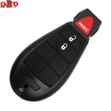 HKOBDII 3 Buttons For Jeep Fobik Smart Remote key Chrysler 433Mhz With Uncut Blade and 46 Electronic Chip