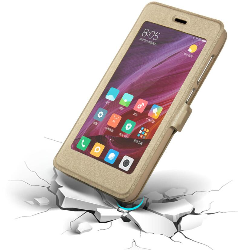 Image 2 - Xiaomi Redmi 5 Plus Case window Flip Cover Shockpoof xiaomi redmi 5 Plus Case Luxury Original size transparent for smart Phone-in Flip Cases from Cellphones & Telecommunications