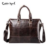 Cobbler Legend Genuine Leather Briefcases Laptop Handbag Brand Men S Business Crossbody Bag Shoulder Messenger Bags