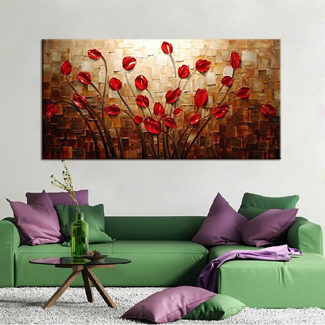 Textured Red Flower