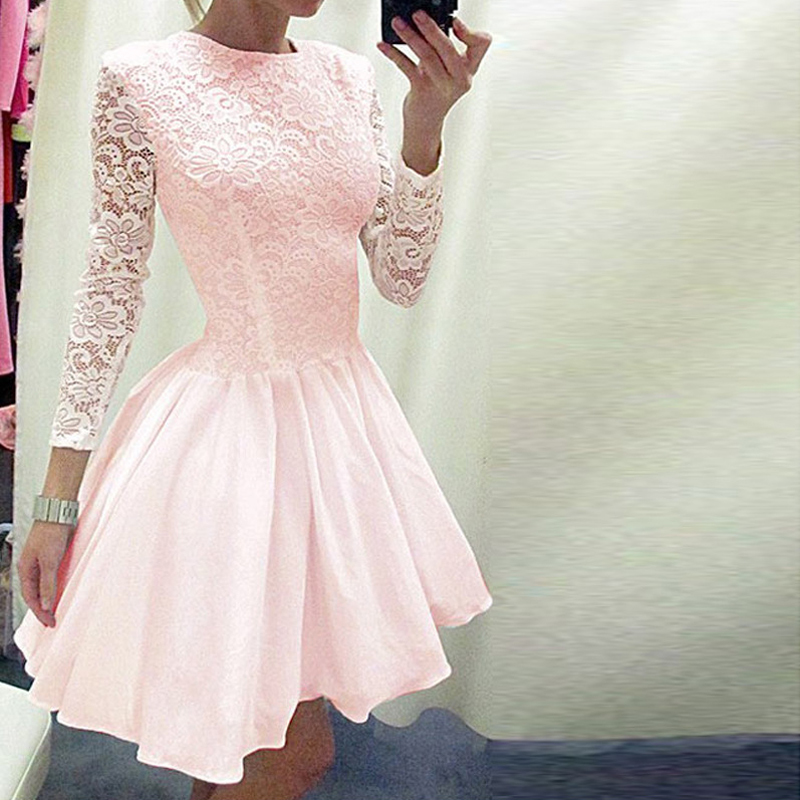 Vestidos Lace Dress Elegant Women Short Prom Office Slim Party Dresses Summer 2018 Casual Beach Dress