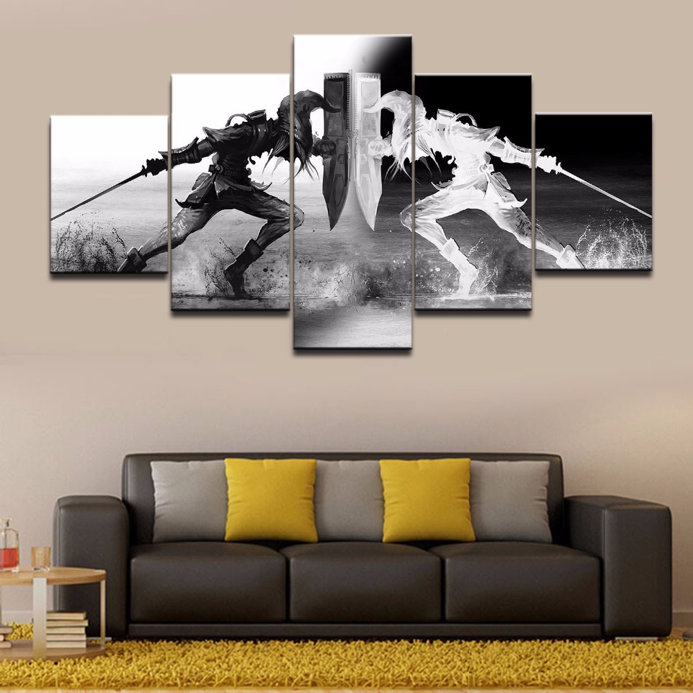 Wall art vikings pictures home decor 5 pieces legend of for House decoration pieces