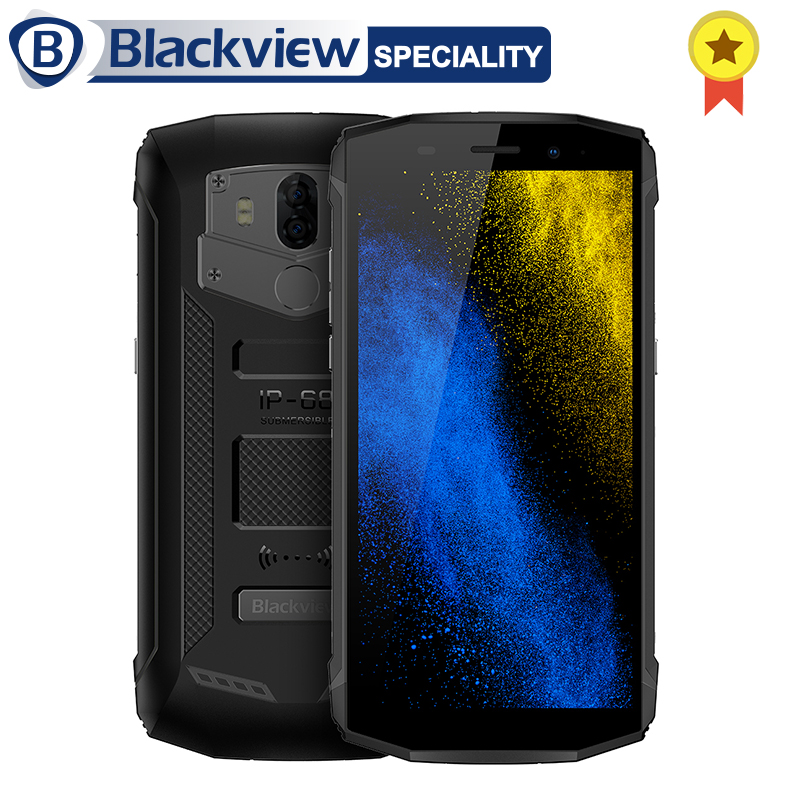 Blackview BV5800 Smartphone IP68 Waterproof 5.5 18:9 Android 8.1 Mobile Phone Dual Rear Camera 13MP OTG NFC Touch ID Cell Phone