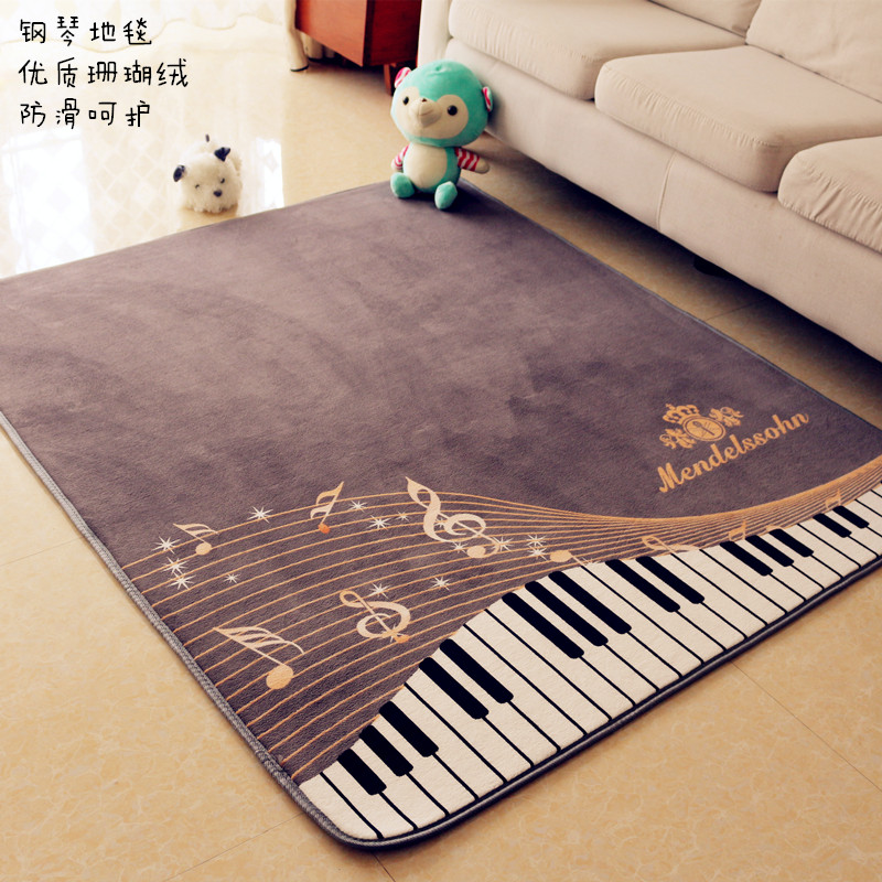 The piano notes carpet living room rug tea table tatami bed bedroom window children play pad coral fleece sofa soft tapetes