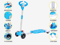Children Bicicleta Scooter Toys Flash 4 Wheels Outdoor Kid Bike Car Slide Ride On Toy LED