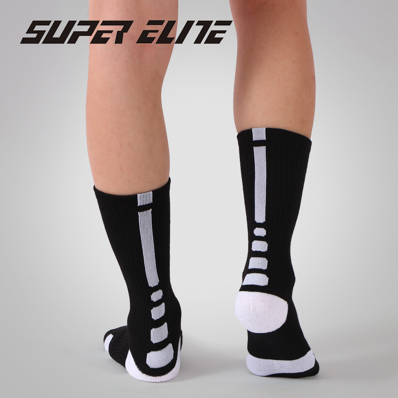 SUPER ELITE Men Crossfit Sport Sock Cycling Basketball Long Tube Champion Workout Sock New Mens Women Cushioned Good Run Running