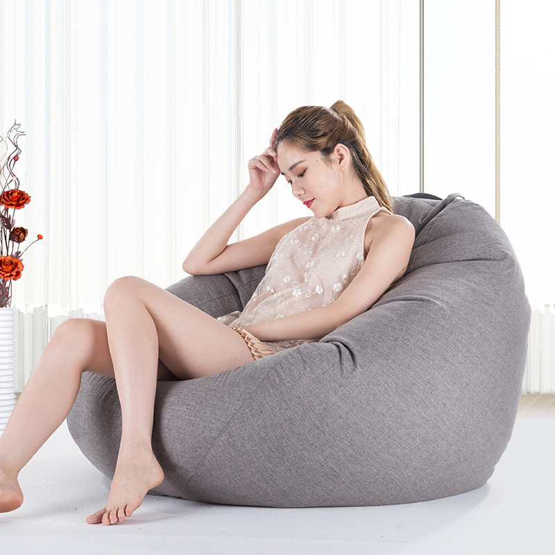 Bean Bag Sofa Cover Chairs Pouf Puff Couch Cotton Linen