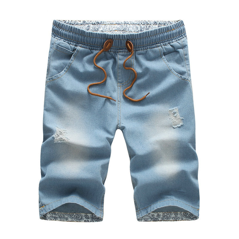 2018 Summer Mens Shorts Casual Blue Beach Jeans Shorts Men Hot Mens Bermuda Shorts ...
