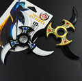 Hero alliance folding rotating shuriken, Bearing rotating darts, Anime weapon model toys, toy knife, gifts for children.