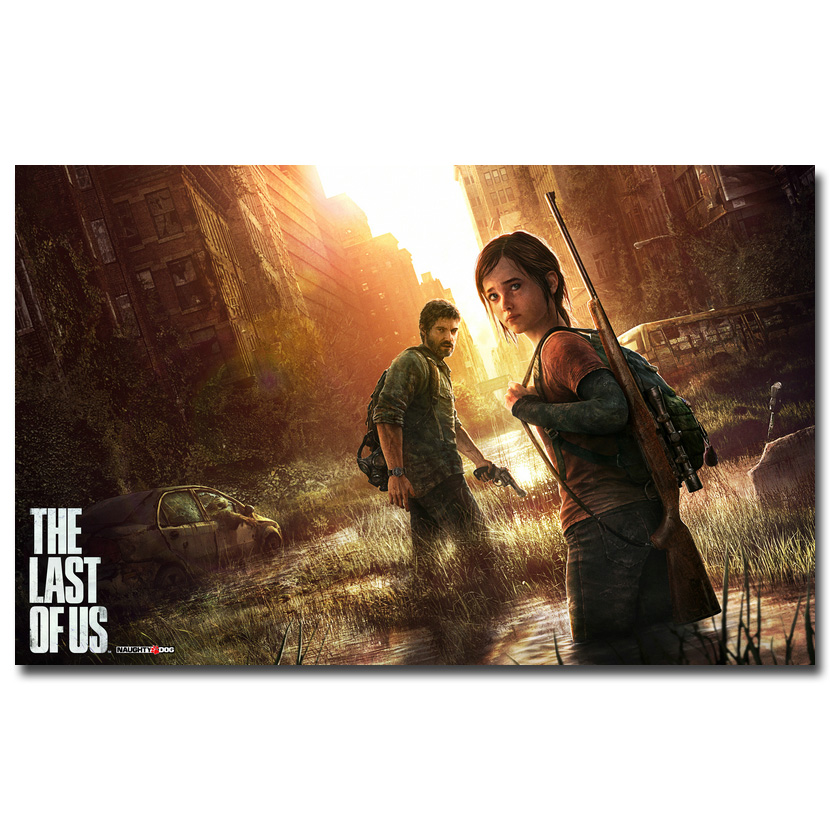 The Last of Us Silk Fabric Wall Poster Print Zombie Survival Horror Action TV Game Pitcures 12x18 20x30 24x36 inches 015