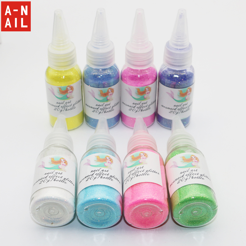 New Mermaid Effect Nail Polish in Mermaid Spell Glitter Powder Dust Magic Glimmer 2016 Trend 12 COLORS Mermaid Strips Tale Tears