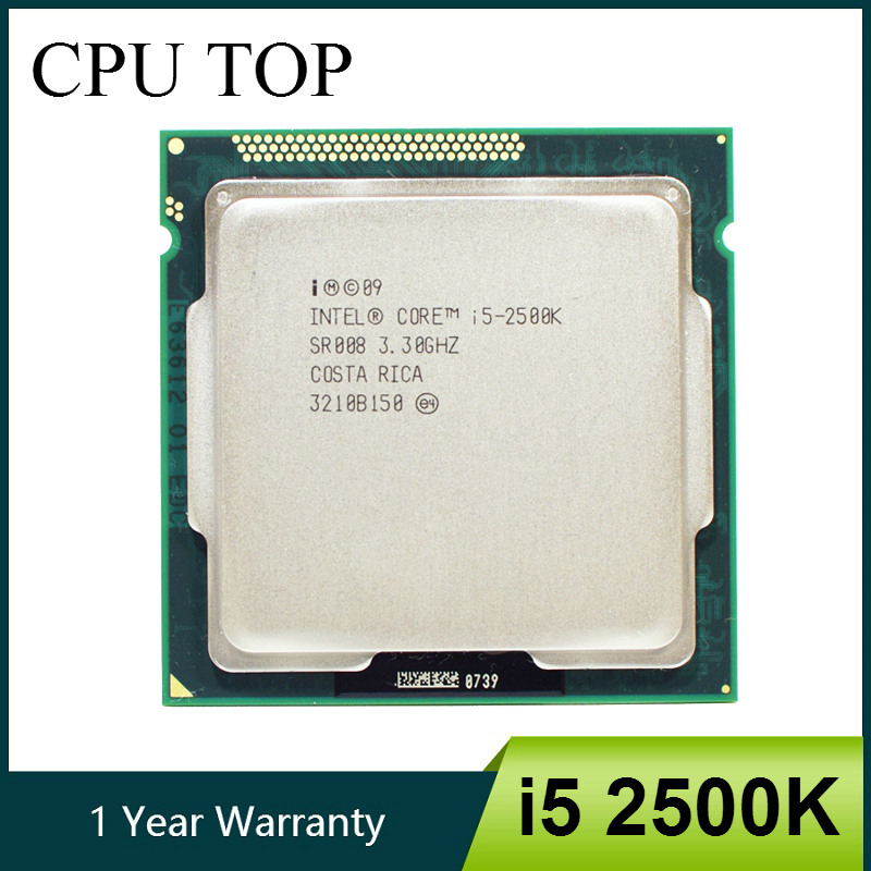 Intel Core i5 2500K Processor Quad Core 3 3GHz LGA 1155 TDP 95W 6MB Cache With