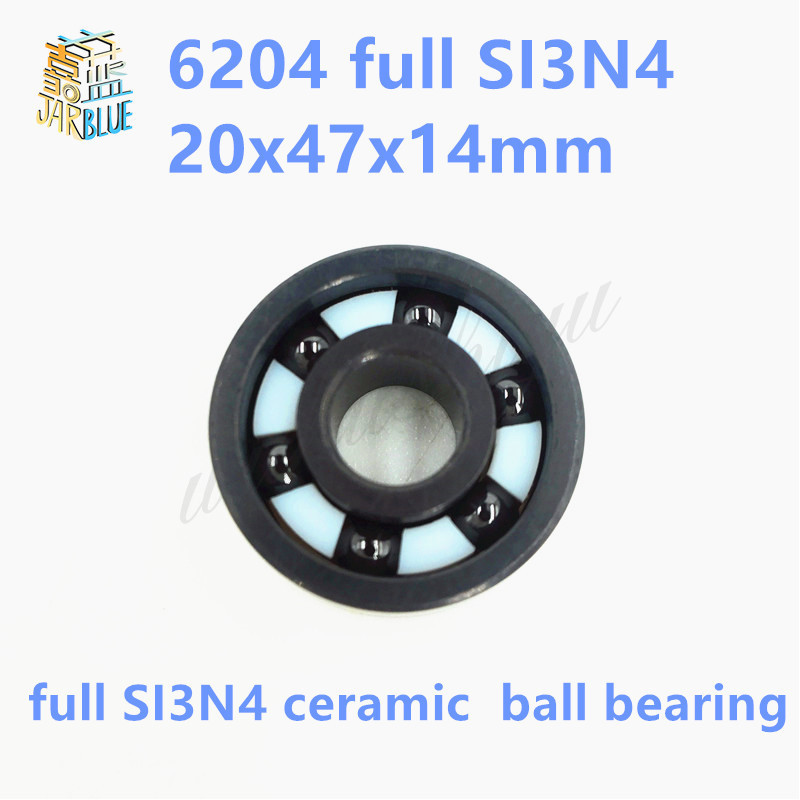 Free shipping 6204 full SI3N4 ceramic deep groove ball bearing 20x47x14mm free shipping 6806 full si3n4 p5 abec5 ceramic deep groove ball bearing 30x42x7mm 61806 full complement